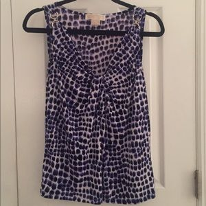 Michael Kor's Purple Print Top